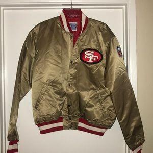 Vintage 49ers Starter Satin Jacket size XL MINT!!!